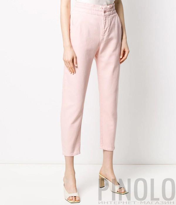 Укороченные джинсы LIU JO WA0390 с завышенной талией розовые