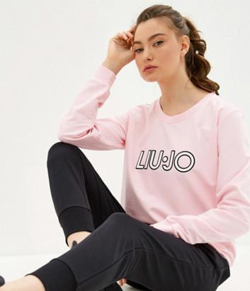 Свитшот LIU JO TA0209 розовый с логотипом