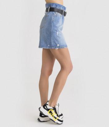 Джинсовая мини-юбка LIU JO UA0076 голубая