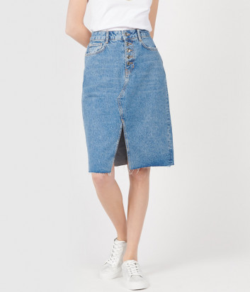 Джинсовая юбка LIU JO UA0128 голубая