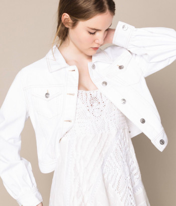 Джинсовая куртка TWIN-SET 201MT2230 белая
