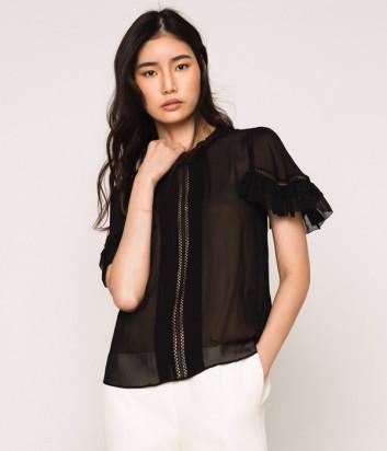 Двойная блуза TWIN-SET 201TT2350 черно-бежевая