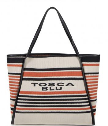 Сумка-шоппер TOSCA BLU Millefiori TS2036B60 в полоску с логотипом