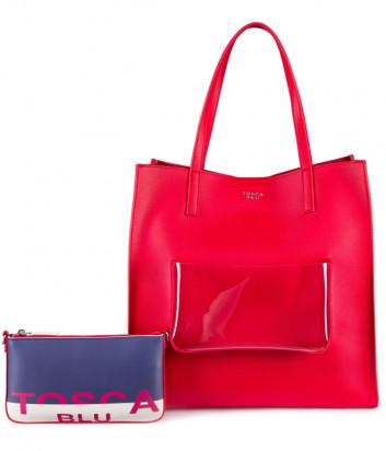 Вместительный шоппер TOSCA BLU TS2033B33 со съемной компактной сумочкой красный