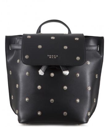 Рюкзак TOSCA BLU Garofano TS2034B61 черный с декором