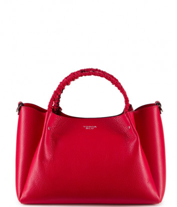 Кожаная сумка TOSCA BLU Fresia TS20NB121 со съемной косметичкой красная
