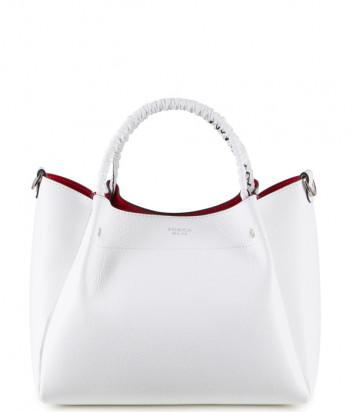 Кожаная сумка TOSCA BLU Fresia TS20NB120 со съемной косметичкой белая