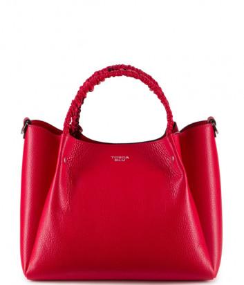 Кожаная сумка TOSCA BLU Fresia TS20NB120 со съемной косметичкой красная