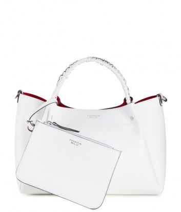 Кожаная сумка TOSCA BLU Fresia TS20NB121 со съемной косметичкой белая