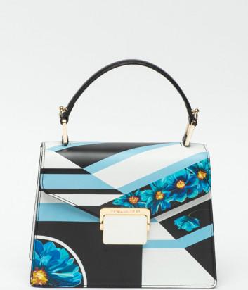 Кожаная сумка TOSCA BLU Remember me TS2013B14 с цветочным узором