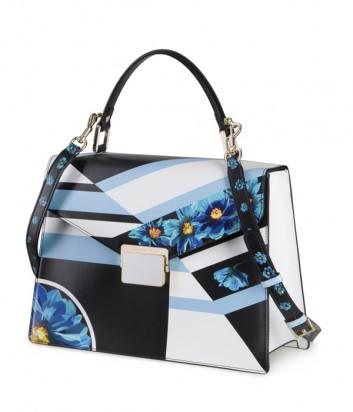Кожаная сумка TOSCA BLU Remember me TS2013B13 с цветочным узором