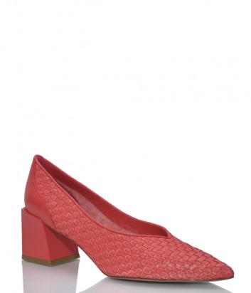 Кожаные туфли H'ESTIA DI VENEZIA 1686 коралловые