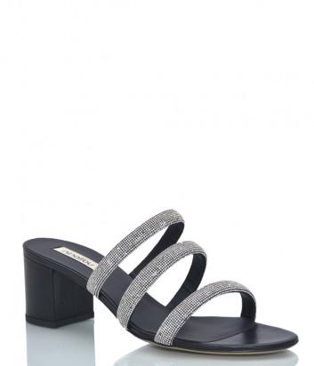 Кожаные босоножки NINALILOU 301075 черные с декором