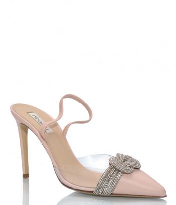 Кожаные туфли NINALILOU 301223 бежевые с декором