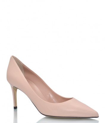 Кожаные туфли NINALILOU 301525 бежевые