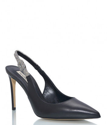 Кожаные туфли NINALILOU 301222 черные с декором