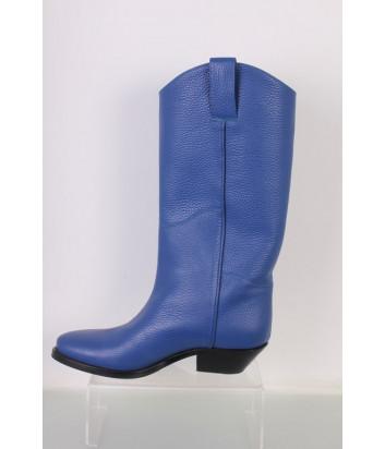 Кожаные казаки P.A.R.O.S.H. PELLY D060042 синие