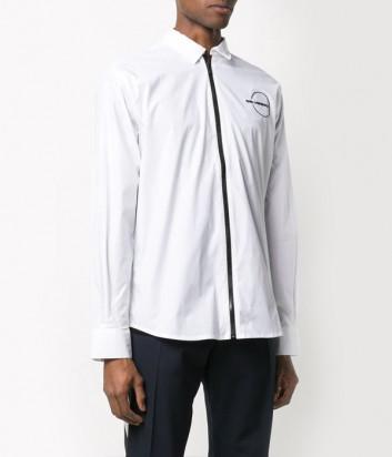 Белая рубашка KARL LAGERFELD 605906 с черной молнией
