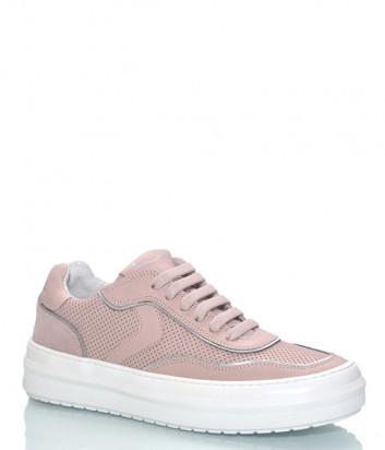 Розовые кеды VOILE BLANCHE 2014623 в коже с перфорацией