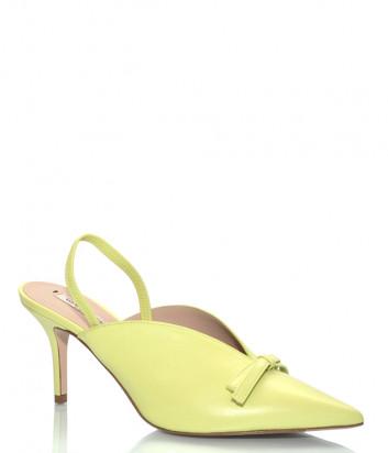 Кожаные мюли GIORGIO FABIANI 201102 с острым носком желтые