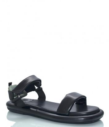Кожаные сандалии MA&LO 9528 черные