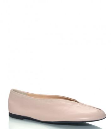 Мягкие кожаные балетки MA&LO 5610 бежевые