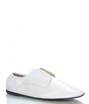 Мягкие кожаные туфли MA&LO 9574 белые