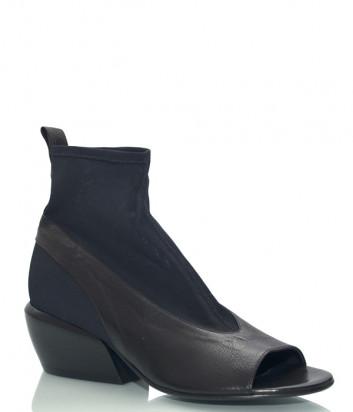 Кожаные ботинки FRU.IT 6132 с открытым мысом черные