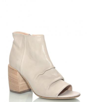 Кожаные ботинки FRU.IT 6145 с открытым мысом бежевые