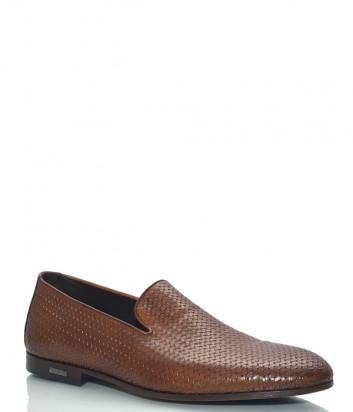 Кожаные туфли BALDININI 097064 текстурные рыжие