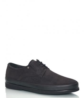 Замшевые туфли GIAMPIERO NICOLA 33859 с перфорацией коричневые