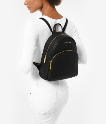 Кожаный рюкзак MICHAEL KORS Abbey 30S0GAYB6L с внешним карманом черный