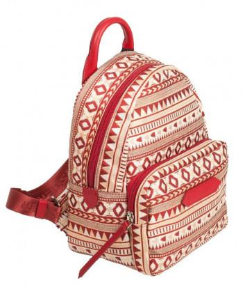 Рюкзак LANCASTER ACTUAL ETHENIC 518-69 с красным этно узором