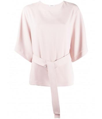 Блуза P.A.R.O.S.H. PANTERS D311221 с поясом пудровая