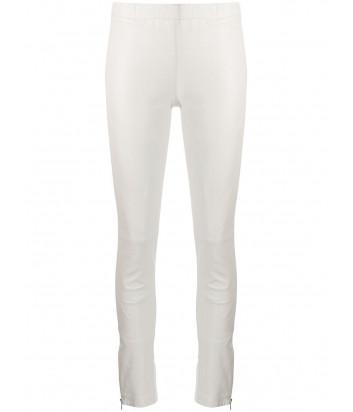 Комбинированные кожаные брюки P.A.R.O.S.H. MACIOCK D230609 белые