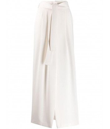 Макси юбка P.A.R.O.S.H. PANTERS D620360 с завышенной талией белая