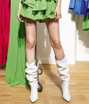 Высокие кожаные сапоги P.A.R.O.S.H. NOXI D060059 белые