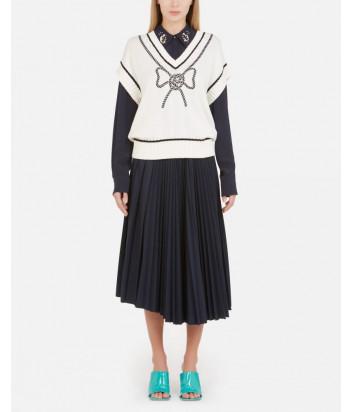 Пуловер VIVETTA A0087604 белый с вышивкой