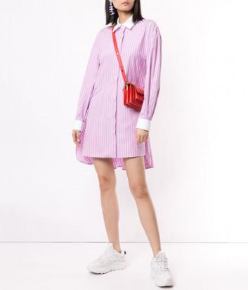Платье-рубашка MSGM 2841MDA22X в розовую полоску