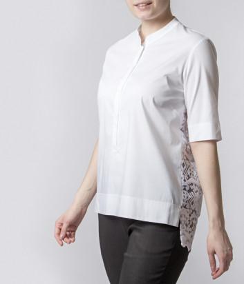 Белая блуза D.EXTERIOR 50717 с кружевной спинкой