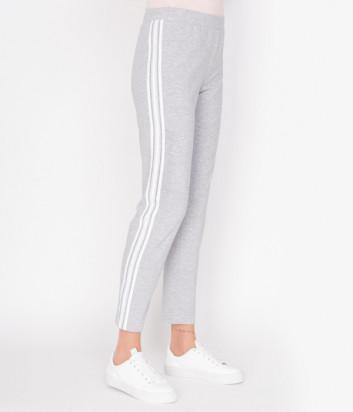 Спортивные брюки D.EXTERIOR 48700 серые с белыми лампасами
