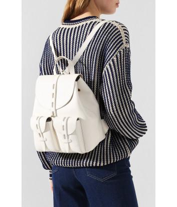 Кожаный рюкзак FURLA NET 1056798 с внешними карманами белый