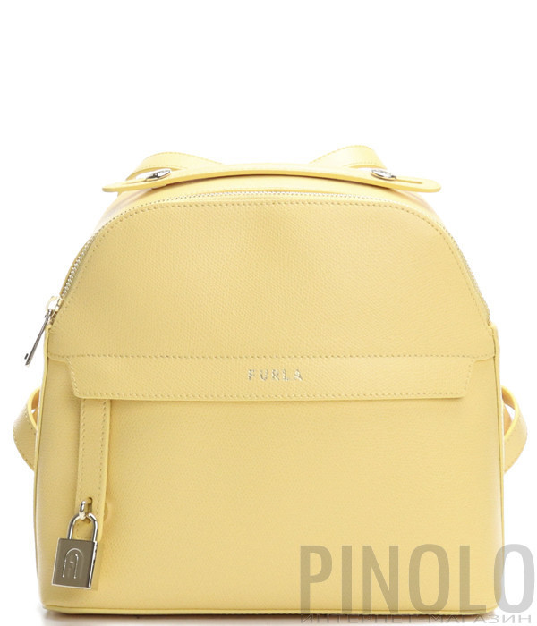 Кожаный рюкзак FURLA PIPER 1057342 желтый