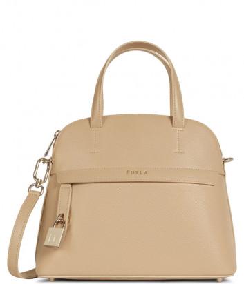 Кожаная сумка FURLA PIPER S 1057358 бежевая