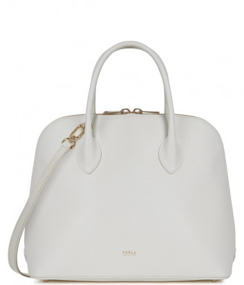 Кожаная сумка FURLA CODE M 1055689 белая