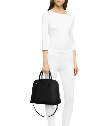 Кожаная сумка FURLA CODE M 1055688 черная