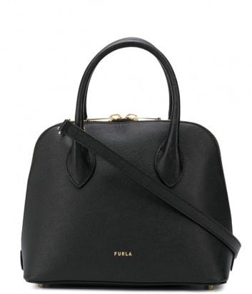 Кожаная сумка FURLA CODE S 1055698 черная