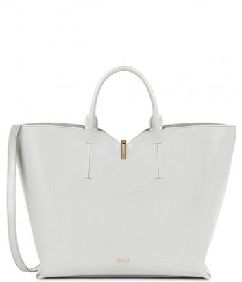 Кожаная сумка FURLA RIBBON 1055911 белая