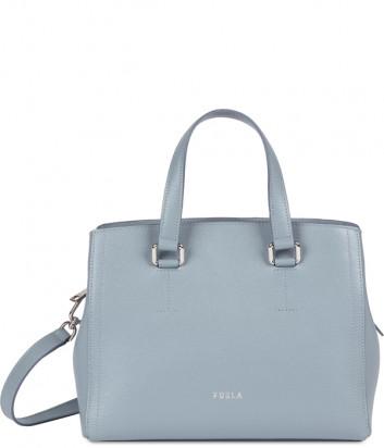 Кожаная сумка FURLA NEXT 1064031 голубая