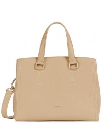 Кожаная сумка FURLA NEXT 1055984 бежевая